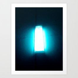 Lantern on the wall Art Print