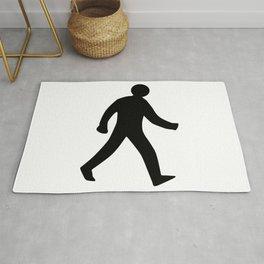 Walking Man Silhouette Rug