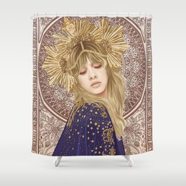 Stevie Nicks Illustration Shower Curtain