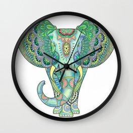 Mandala Elephant Wall Clock