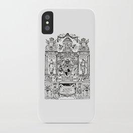 Antique Bookplate Art - Victorian Angels & Architecture iPhone Case