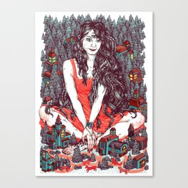 Three Eyed Girl Canvas Print