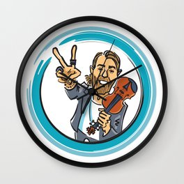 V for Violin - 2 Wall Clock