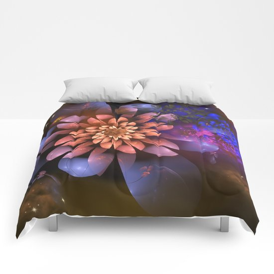 Cosmic flowers in universe Comforters