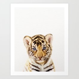 Baby Tiger, Baby Animals Art Print By Synplus Art Print