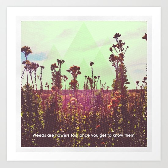 The Weeds Art Print