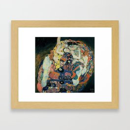 Klimt -The Maiden Framed Art Print
