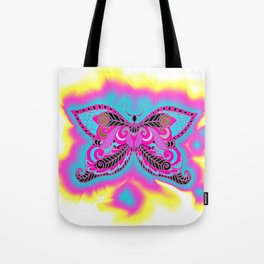 Multicoloured Butterfly Tote Bag