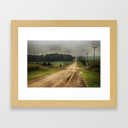 Country Crossing Framed Art Print
