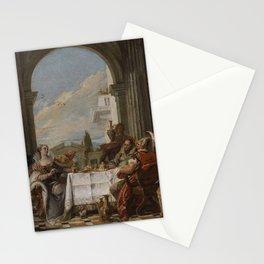 Giovanni Battista Tiepolo - The Banquet of Cleopatra (Tiepolo - Musee Coqnacq version) Stationery Cards