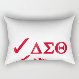 Delta Doctor Shirt for Physician Sorority Sigma Theta Woman Rectangular Pillow
