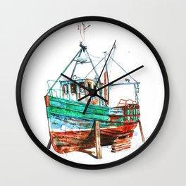 Desert boat Wall Clock