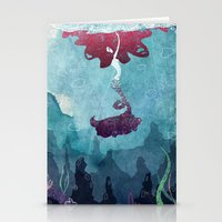 mermaid Stationery Cards featuring Mermaid by Serena Rocca