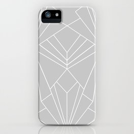 Art Deco on Grey - Large Scale iPhone Case