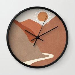 Minimalistic Landscape I Wall Clock