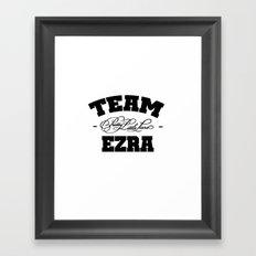 PLL - Team Ezra Pretty Little Liars Framed Art Print