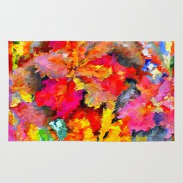 Iris Floral Abstract Rug