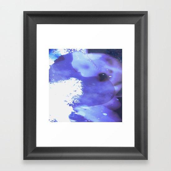 GALAXY {BLUE} Framed Art Print