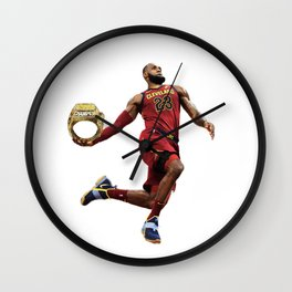 LeBron Dunking The Ring James Wall Clock