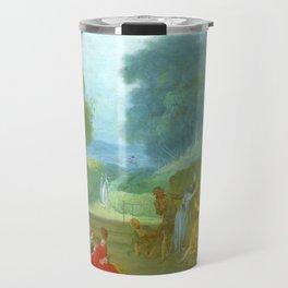 "Jean-Honoré Fragonard ""A Game of Hot Cockles"" Travel Mug"