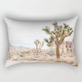 joshua tree boho cactus desert wall art landscape photography print Rectangular Pillow