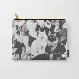 Cats Forever B&W Carry-All Pouch