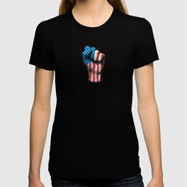 Flag of The United States on a Raised Clenched Fist T-shirt