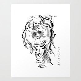 Orangutan B&W Art Print