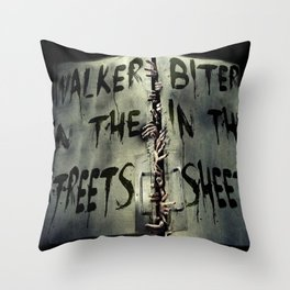 Walker in the Streets, Biter in the Sheets Throw Pillow