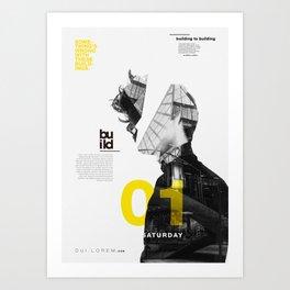 Build 01 Art Print