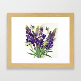 Light Bug Lavender Framed Art Print