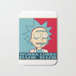 RICK SANCHEZ WUBBA LUBBA DUB DUB Bath Mat