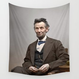 Abraham Lincoln Painting Wall Tapestry
