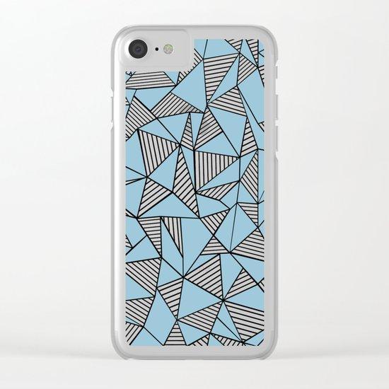 Ab Blocks Blue #2 Clear iPhone Case