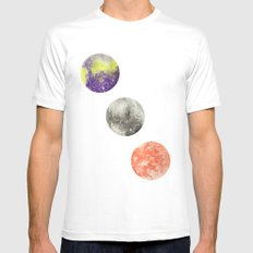 Harmonic Convergence White Mens Fitted Tee MEDIUM