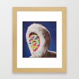 Neon Big Foot Framed Art Print