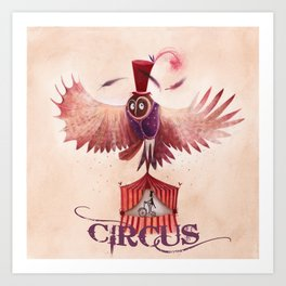 Chouette Circus Art Print