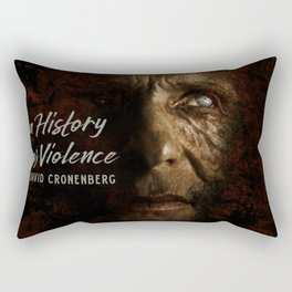 A History of Violence, David Cronenberg movie poster, Viggo Mortensen, Ed Harris Rectangular Pillow