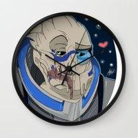 garrus Wall Clocks featuring Garrus Vakarian by ArtisticCole