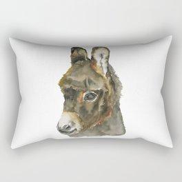 Baby Donkey Watercolor Rectangular Pillow