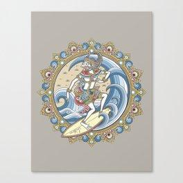 HANOMAN SURFING Canvas Print