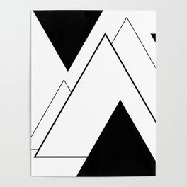 Minimal Mountains Poster