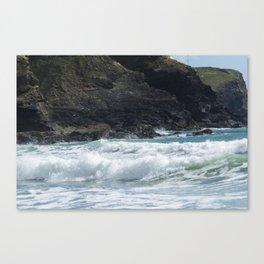 White Surf Canvas Print