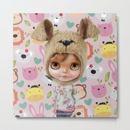 ERREGIRO BLYTHE DOLL CHIO ANIMALS  Metal Print