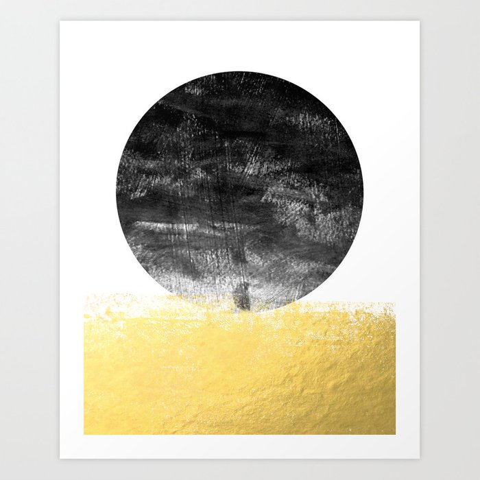 Lilitz - sunset space modern minimal black and white abstract art ...