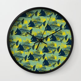 Water Fishes Wall Clock