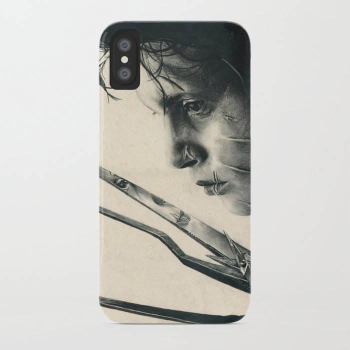 Edward Scissorhands ~ Johnny Depp Traditional Portrait Print iPhone Case