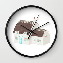 Little Thatched Cottage Wall Clock