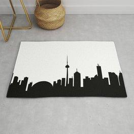 Toronto Skyline - B and W Rug