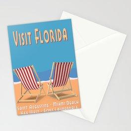 Florida Vintage Travel Poster Stationery Cards